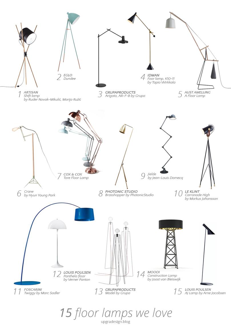 15 floor lamps we love | upgradesign