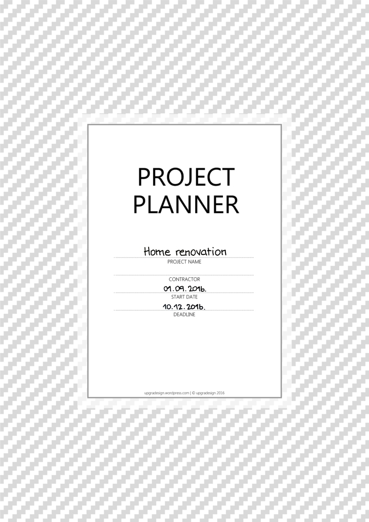 What to think about when hiring a contractor: PROJECT PLANNER worksheet