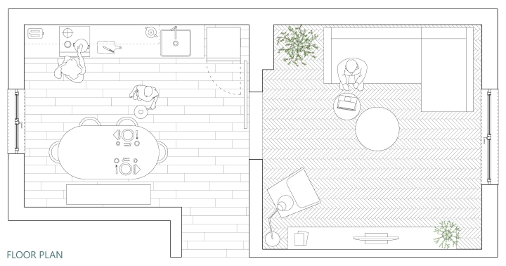Upgradesign - Kitchen remodel: floor plan