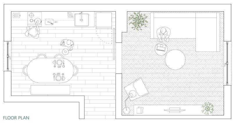 Upgradesign - Kitchen remodel: floor plan