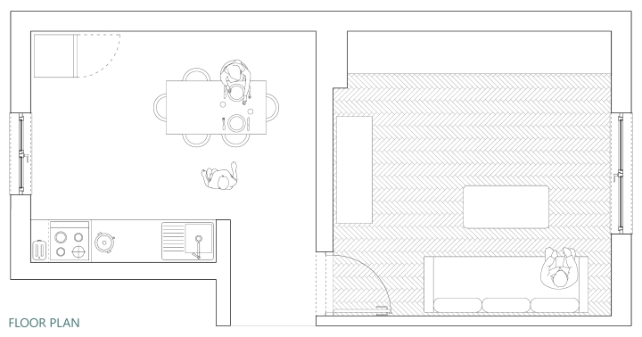 Upgradesign - Kitchen remodel: existing floor plan