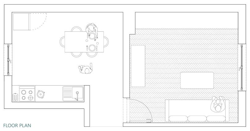 Upgradesign - Kitchen remodel: existing floor plan