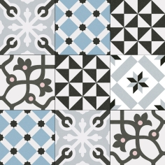 Combination of VIVES floor tiles Gres