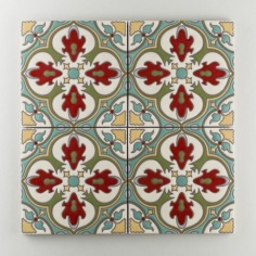Fireclay Tile - The Mediterranean Collection - Barella Warm Motif