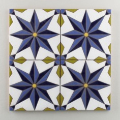 Fireclay Tile - The Classic Cuerda Seca Collection - Vitoria Cool Motif