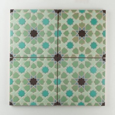 Fireclay Tile - The Moroccan Collection - Elephant Star Cool Motif