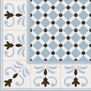 Combination of VIVES floor tiles Gres