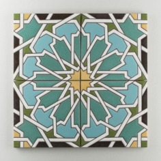 Fireclay Tile - The Moroccan Collection - Persian Star Warm Motif