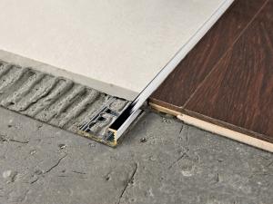 PROELEGANT Chromed brass Flooring joint - PROGRESS PROFILES Chromed brass Line