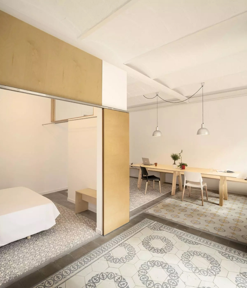 EO arquitectura – Reform Apartment in the Eixample: floor tiles
