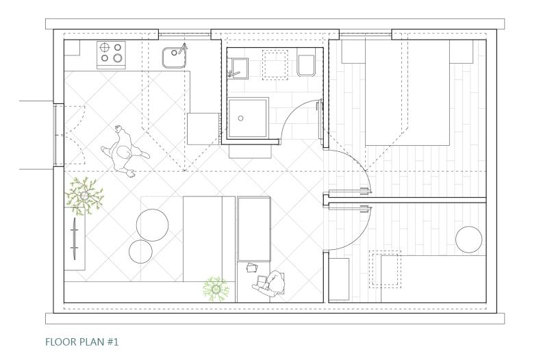 Šipan summer house - FLOOR PLAN design #1