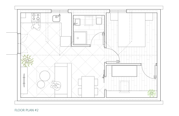 Šipan summer house - FLOOR PLAN design #2
