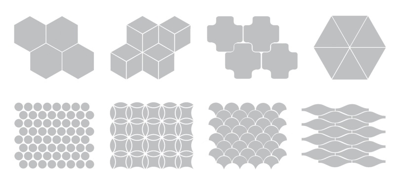 Popular tile shapes
