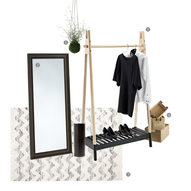 Tips and tricks for perfect entrance space: BLACK+NATURAL entrance space collage