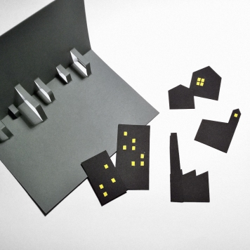 MAKING OF: CITY pop-up card   upgradesign