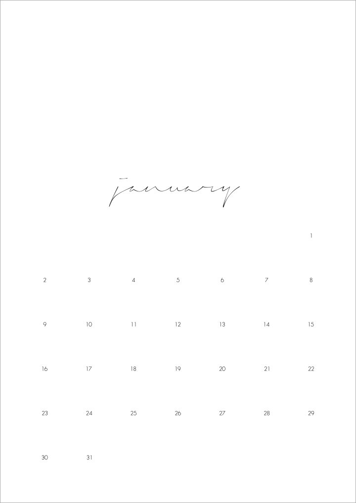 2017 calendar - months | upgradesign