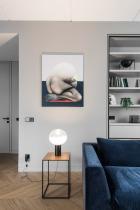 Interior lighting | decorative lamp | table lamp | glow lighting | livingroom | AKTA studio - Apartment in Basanavičius st.