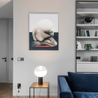 Interior lighting | decorative lamp | table lamp | glow lighting | livingroom | AKTA studio - Apartment in Basanavičius st.