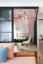 Home interior color palette | perfect color combinations | blush pink gold | floor tile pattern