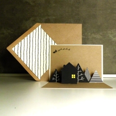 HOUSE pop-up card   upgradesign/papertopeople