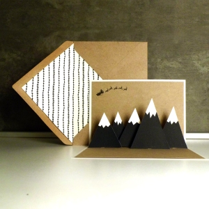 MOUNTAINS pop-up card | upgradesign/papertopeople