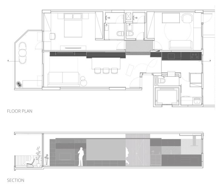 CIAA - Icaraí Apartment FLOOR PLAN + SECTION