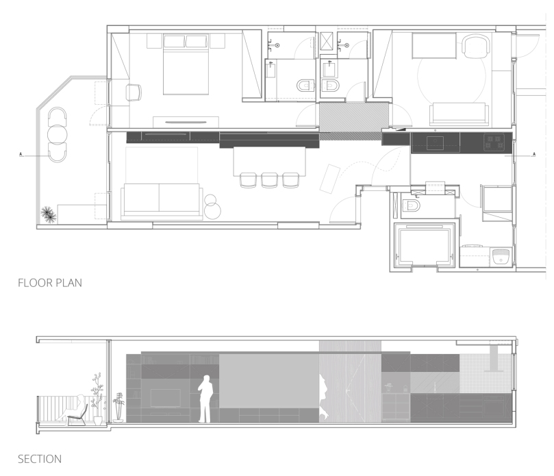 CIAA - Icaraí Apartment FLOOR PLAN + SECTION