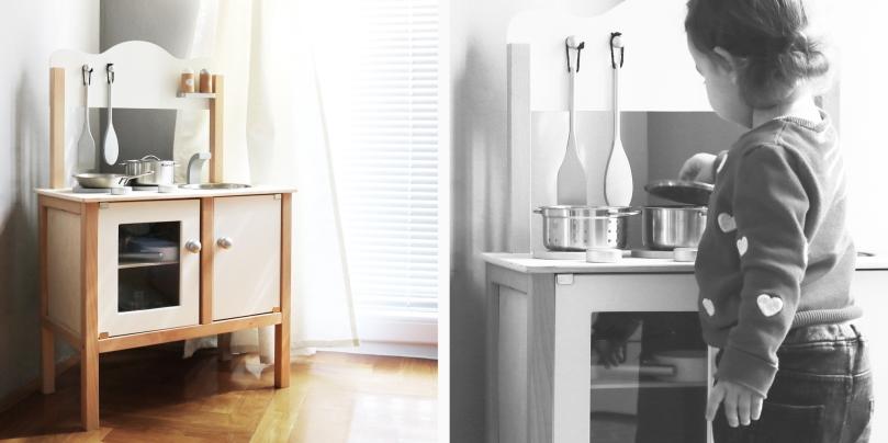 How to design kids room: baby girl's room - kitchen corner | upgradesign