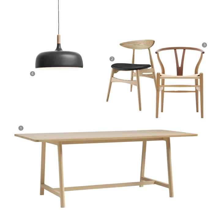 Do you even need a dining room: WOOD dining area collage