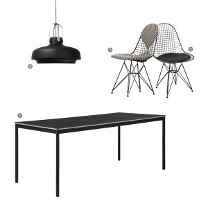 Do you even need a dining room: BLACK dining area collage