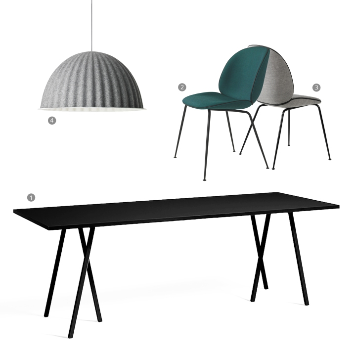 Do you even need a dining room: BLACK - GREY dining area collage