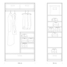 Quick tips for closet design: closet 100 / 50cm
