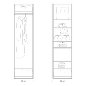 Quick tips for closet design: closet 50cm