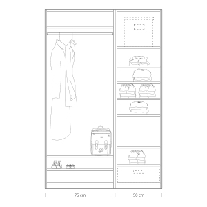 Quick tips for closet design: closet 75 + 50cm