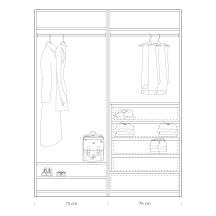 Quick tips for closet design: closet 75 + 75cm