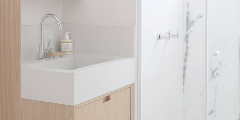 Step by step guide to a small bathroom design: CIAA - Icaraí Apartment