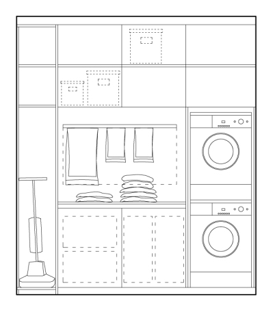 Home renovation in four steps - step four: storage/utility design example | upgradesign