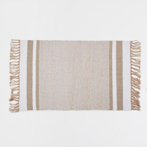 Tips and tricks for perfect bedroom: ZARA HOME GOLDEN STRIPED COTTON RUG [ upgradesign