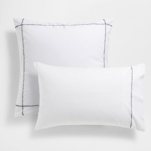 Tips and tricks for perfect bedroom: ZARA HOME CONTRASTING TOPSTITCHING COTTON PILLOW CASE | upgradesign