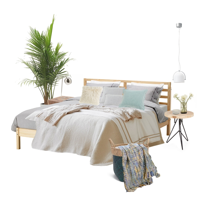 Tips and tricks for perfect bedroom: MOOD BOARD - BEDROOM with wood | upgradesign