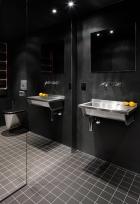 Home inspiration | bathroom design idea and layout organization | black
