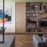 BLAARCHITETTURA - Morrissey / Beppe Giardino photography / uglass translucent partition / apartment remodel / partition wall / bookcase / library