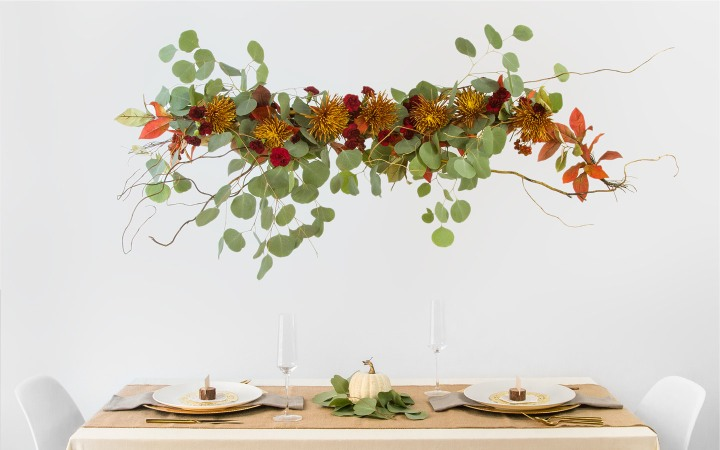 Hanging centerpiece DIY / do it yourself / FTDbyDesign