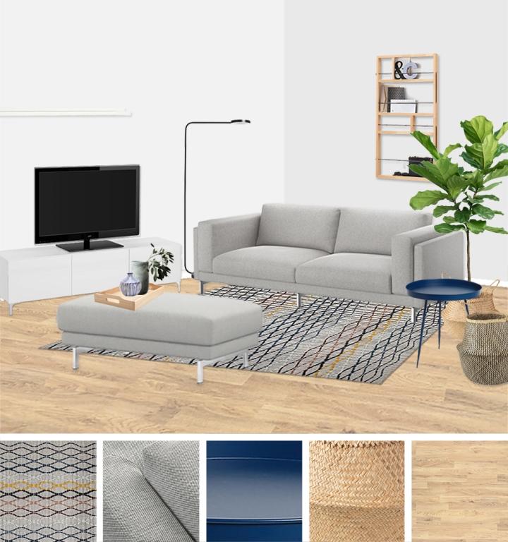 Living room makeover - moodboard - upgradesign