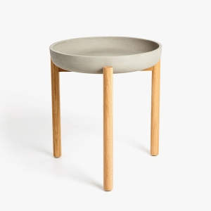 ZARA HOME CEMENT TABLE WITH WOODEN LEGS