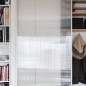 Apartment remodel in Zagreb | closet | storage | bookcase | lexan door