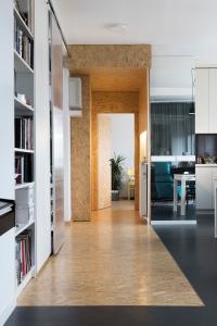 Apartment remodel in Zagreb   linoleum floor   OSB floor   OSB corridor