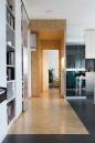 Apartment remodel in Zagreb | linoleum floor | OSB floor | OSB corridor