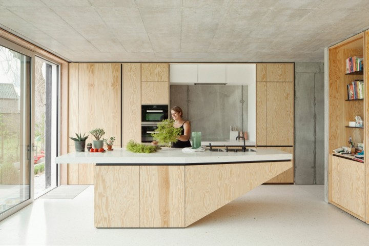 kitchen | plywood kitchen | wood | plywood | kitchen island | i.s.m.architecten – TDH