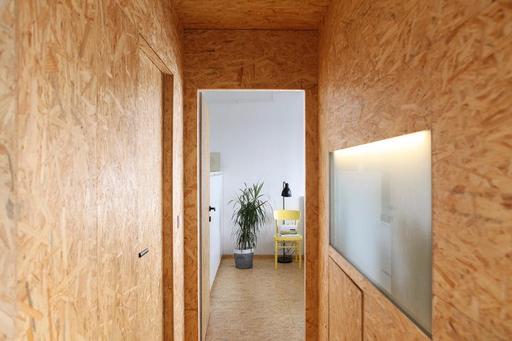 Apartment remodel in Zagreb | corridor | OSB walls